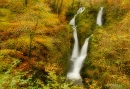 Stock Ghyll waterfall in autumn, Lake District
