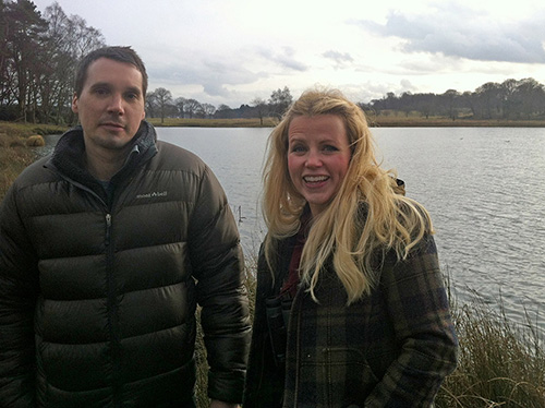 Ben Hall and Ellie Harrison